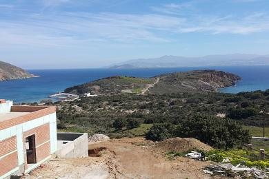 Molos,villa under construction. Stunning sea view, swimming pool